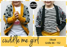 Nähanleitungen Kind - Cardigan EBook * cuddle me girl * 86 - 152 - ein Designerstück von schaumzucker bei DaWanda