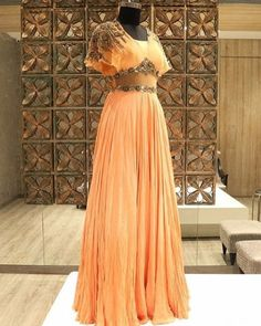 Shop Peach Georgette Cape Style Gown By G3+ Video Shopping. Instant Price and Queries Whatsapp - +91-9913433322 To view more collection follow g3fashion.com #weddingdress #weddinggown #bride #weddings #engaged #bridesmaids #gown #burberry #valentino #chloe #dior #casamento #weddingideas #matching #newcollection #perfectday #princess #fashionista #couture #girls #webstagram #sanfrancisco #musthave #fashionable #chic #stylish #fashionblogger #dream #thebest #romantic