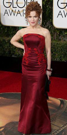2016 Golden Globes Red Carpet Arrivals - Bernadette Peters - from InStyle.com