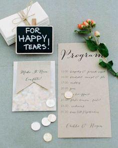 7 Easy Ways to Personalize Your Program | Martha Stewart Weddings