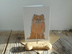 Dog Card: Pomeranian by huxleyjonesdesigns on Etsy