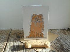 Dog Card: Pomeranian by huxleyjonesdesigns on Etsy