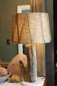 DIY Driftwood lamp. Coastal Charm: More Fun With Driftwood