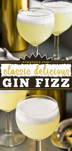 Shake up your next football party! This easy Gin Fizz recipe will be one of your go-to game day drinks. With just a few ingredients, you can whip up a crowd-pleasing cocktail. Nothing beats a classic! Refreshing Cocktails, Classic Cocktails, Fun Drinks, Moscow Mule With Gin, Perfect Gin And Tonic, How To Make Gin, Gin Fizz Cocktail, Game Day Food, Few Ingredients