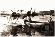 Ρόδος Μανδράκι. Άποψη του Λιμανιού με Υδροπλάνο 1930 .. 1930, Rhodes, Greece, Boat, Island, Greece Country, Dinghy, Boats, Islands