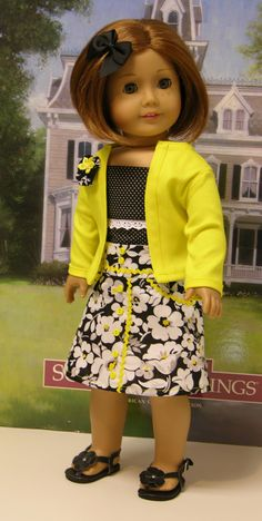 Mod Fleur Skirt Set for American Girl with by cupcakecutiepie, $60.00