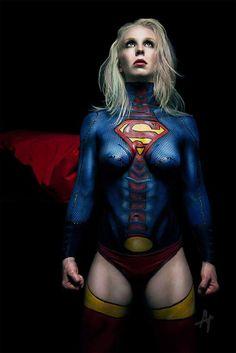 Superman paint body cuoco kaley