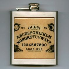 Ouija Board Whiskey Hip Flask Stainless Steel 6 oz Supernatural Ouija, Vivid Colors, Liquor, Supernatural, Whiskey, Best Gifts, Things To Come, Boards, Stainless Steel