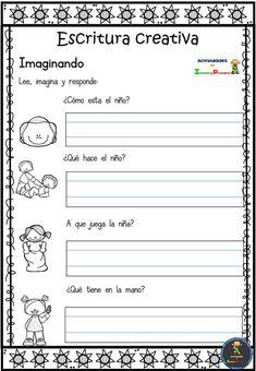 Visita la entrada para saber más Spanish Worksheets, Spanish Teaching Resources, 1st Grade Worksheets, Writing Worksheets, Teaching English, Spanish Lessons For Kids, Spanish Class, 1st Grade Writing, Therapy Worksheets