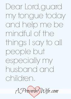 Guard my Tongue Prayer
