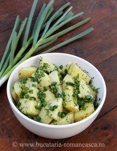 Salata de cartofi noi Salad Recipes, Potato Salad, Potatoes, Ethnic Recipes, Food, Green, Potato, Essen, Meals