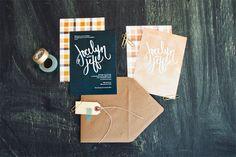 Hand Lettered Wedding Invites