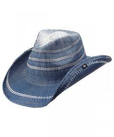 b4ad80f766245 Ltd Unisex Stadler Straw Cowboy Hat Pgd9613-Blu-O Blue CK11TBEEI8X