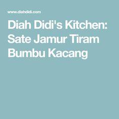 Diah Didi's Kitchen: Sate Jamur Tiram Bumbu Kacang