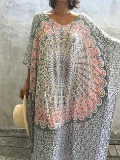 Robe Maxi caftan pluse femmes taille robe de plage par stylepark1