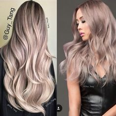 Pearl balayage hair