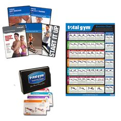 Personal Training System –  Within the Training Deck, you'll find over 80 exercises developed by a team of Total Gym certified trainers. There's a combination of standard Total Gym exercises as well as never been released exercises.  Includes:  - Total Gym Training Deck  - Total Gym Exercise Chart  - Fitness DVD Set  - Start It Up! Your Personal Training Guide  - 6-8 Minute Workout  - Smart Training Workout  - Pilates for Total Gym  - Dan Isaacson's Body Makeover