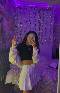 Indie Outfits, Teen Fashion Outfits, Retro Outfits, Cute Casual Outfits, Look Fashion, Fashion Teens, Skater Girl Outfits, Jugend Mode Outfits, Look Girl