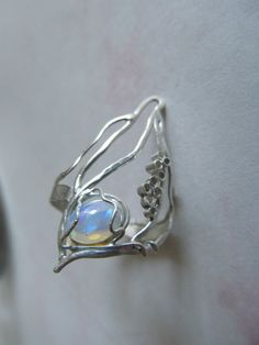 Gorgeous Welo opal openwork ring by #FluidMetalsStudio on Etsy, $198.00