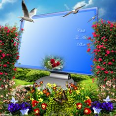 ThatsMimi's Spring Frames - 2014 May - 2015 - 2014 May - 2015 Birthday Photo Frame, Birthday Frames, Frame Background, Background Images, Dove Images, Foto Frame, Beautiful Love Pictures, Family Picture Frames, Photo Frame Design