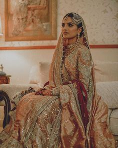 Abhinav Mishra's 2020 Summer Collection Is Out & It's Drop-Dead Gorgeous! Asian Bridal Dresses, Indian Bridal Outfits, Pakistani Wedding Outfits, Pakistani Wedding Dresses, Indian Dresses, Indian Suits, Wedding Attire, Indian Wear, Bridal Lehenga