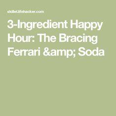3-Ingredient Happy Hour: The Bracing Ferrari & Soda