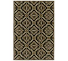 """Dolce 4075 7'10""""x10'9"""" Napoli Gold and Black Area Rug 