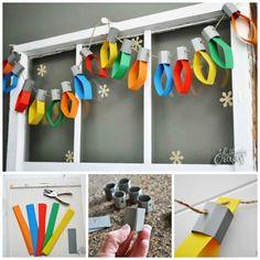 Home made Christmas Decor!  http://www.stubbornlycrafty.com/blog/paper-christmas-lights-garland/