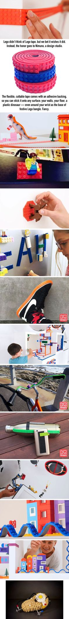 Magical Lego Tape Will Let You Stack Legos Anywhere - 9GAG