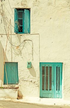 Crete, Greece.....would be good house color with zinnias in the summer....cottage look?