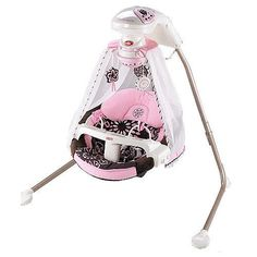 Fisher Price pink and cocoa starlight papasan baby swing