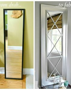 DIY gorgeous mirror for the bedroom closet door!!!