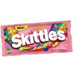 Desdesserts américains dans un sachet gourmand ? C'est possible ! Découvrezces nouveaux parfums Skittles qui s'inspirent de dessertsaméri...