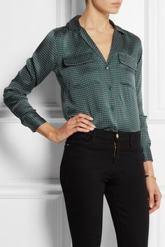 equipment blaise boundless printed silk-stain shirt