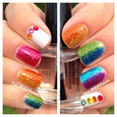 My Nail Polish Obsession: Nail Art using Superficially Colorful: Things I Love Collection
