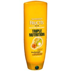 Garnier Fructis Haircare Triple Nutrition Fortifying Cream Conditioner, Dry to Over-Dried or Damaged Hair