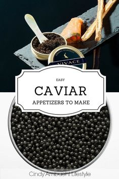 Easy Caviar Appetizers to Make via Cindy Ambuehl Lifestyle Caviar Dishes, Caviar Recipes, Hors D'oeuvres, Appetisers, Finger Foods, Appetizer Recipes, Holiday Recipes, Favorite Recipes, Snacks
