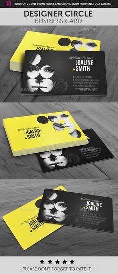 Designer Circle Business Card Template InDesign INDD. Download here: https://graphicriver.net/item/designer-circle-business-card/17469691?ref=ksioks