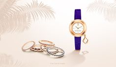 Enjoy a colorful summertime with a selection of Van Cleef & Arpels' iconic creations such as Perlée rings and the Charms Gold Mini watch.  Various pieces can be worn in infinite ways to express a unique and personal style.