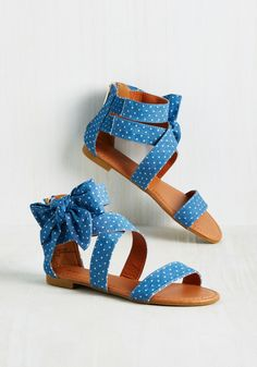 Handle With Fair Sandal. When you think about it, your favorite shoes have it tough, supporting you all day long. #blue #modcloth