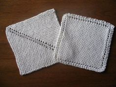 simple dishcloth pattern, works well when you're running low on yarn
