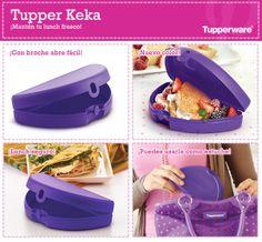 Lleva tus quesadillas a todas partes con la Tupper Keka de Tupperware. ¡Es práctica y bonita!
