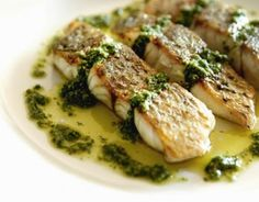 Pan-fried barramundi with salsa verde