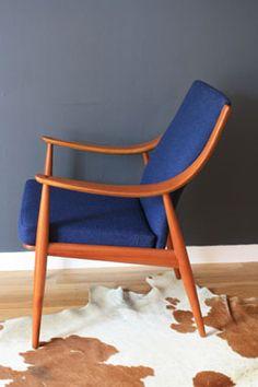 Vintage Mid-Century Teak Easy Chair by Peter Hvidt