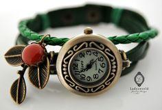 ✿Sommer✿lll  Echtleder Armbanduhr von Ladysworld auf DaWanda.com