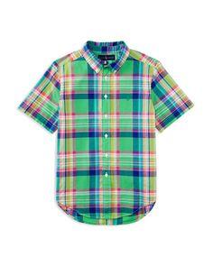 Ralph Lauren Childrenswear Boys' Madras Plaid Button Down Shirt - Sizes S-xl