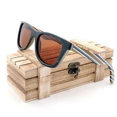 ca2db073aa04 WoodWatchBox.com WOOD SUNGLASSES Brown Lens G027 BOBO BIRD AG11 UV400  Polarized Natural Wooden Sunglasses