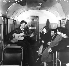 1957: Tube music. | 31 Gorgeous Photos Of The London Underground In The '50s And '60s