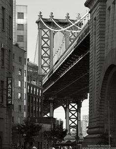 Manhattan Bridge Streetscape - Photographer Andrew Prokos