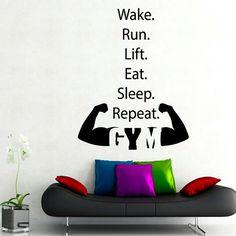 Fitness Wall Decals Sportsman Sport Wall Words by DecalMyHappyShop